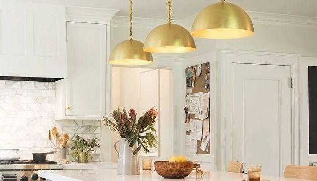 aranzacje lampy wiszące kuchnia jadalnia